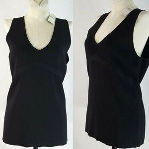 Ann Taylor Loft Sleeveless Black Knit Top L